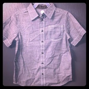 NEW Boys Wonder Nation Button Down Top Large 10/12